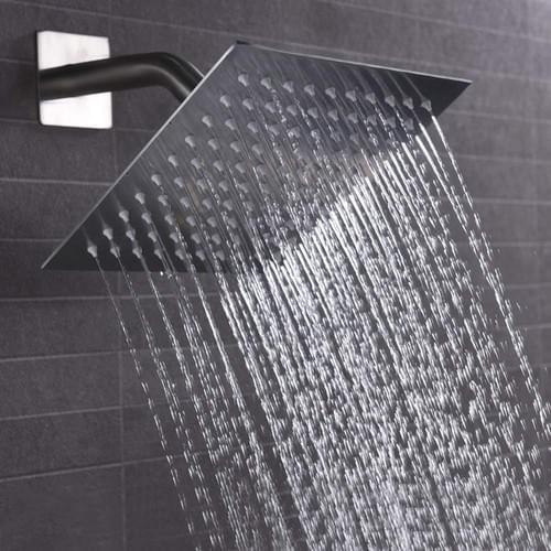 HIGH PRESSURE 8 inch Square Rain Showerhead Chrome Finished, Ultra Thin Design