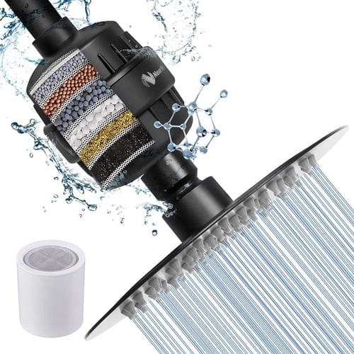 NearMoon Shower Head and 15 Stage Shower Filter Combo