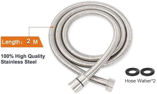 Shower Hose, NearMoon 79 Inches Extra Long Hand Held Shower Hose 304 Stainless Steel With Brass conn