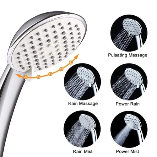 Shower Head with hose, High Pressure NearMoon Multi-functions Handheld Showerhead 5 Settings Powerfu