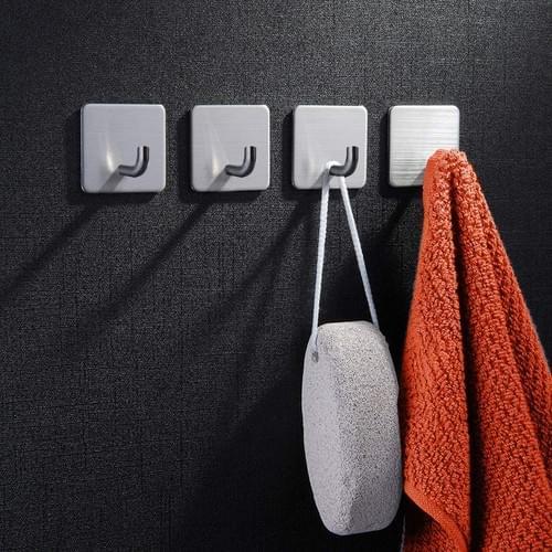 NearMoon Adhesive Hooks Heavy Duty Wall Hooks Hangers Waterproof Stainless Steel Hooks for Hanging K