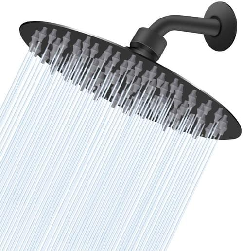 High Pressure Oil Rubbed Bronze (Matte Black) Shower Head, 8 Inch Rain Showerhead, Ultra-Thin Design