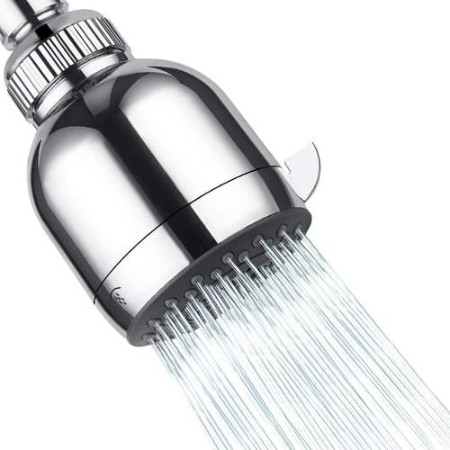 Low flow shower head, High Pressure Showerhead - 3 Inch 3 Functions Chrome Showerhead - Adjustable M