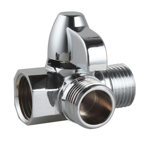 """NearMoon Solid Brass G1/2"""" Shower Arm 3-Way Diverter Valve for Hand Shower and Fixed Spray Head T-Ad"""