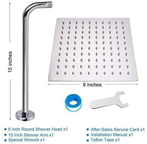 HIGH PRESSURE Rain Showerhead, Ultra Thin Design-Best Pressure Boosting, Awesome Shower Experience E