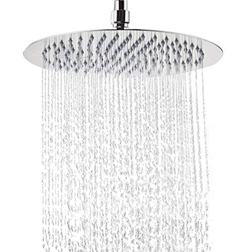 12 Inch Rain Shower Head, NearMoon Round Large Stainless Steel Bath Shower, Ultra Thin Design