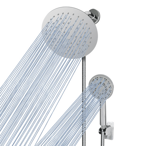 NearMoon Shower Head combo, 8-Inch Stainless Steel Rain Shower Head and 5-setting Hand Held  Spray