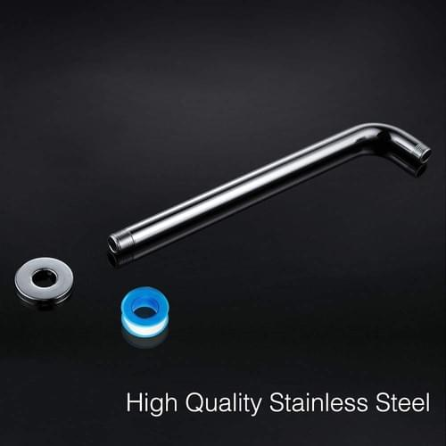 15 Inch Shower Arm, NearMoon Extra Fixed Arm with Flange, Stainless Steel Wall-Mounted ShowerHead Ar