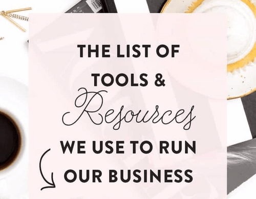 top list of tools and resources to help you run your business