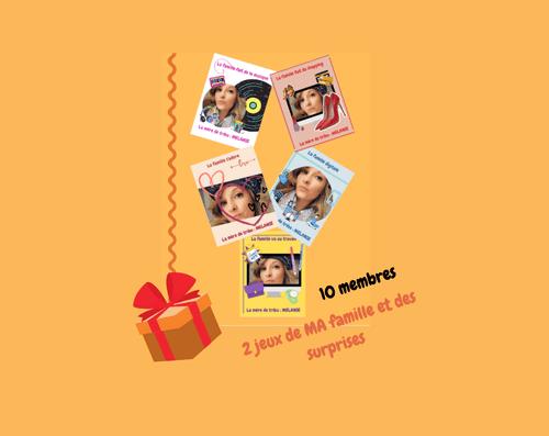 COFFRET EXCLUSIF les jeux de MA famille, édition NOËL jusqu'à 10 membres - Frais de livraison inclus