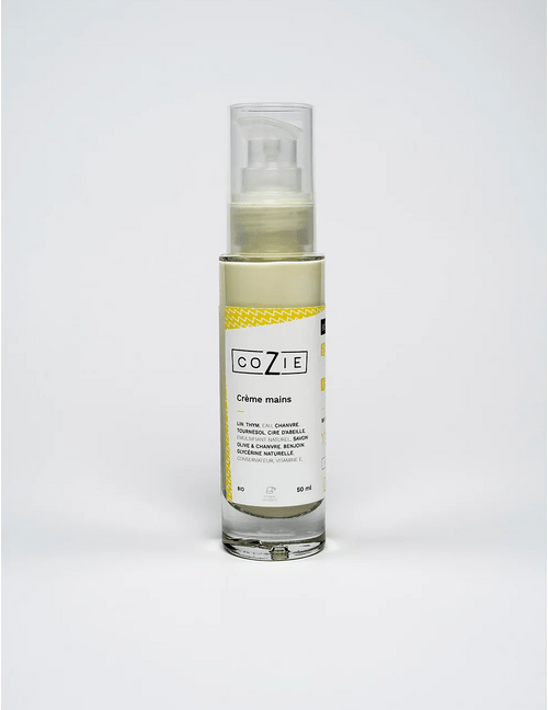 Crème mains au gel de lin et huile de chanvre - COZIE - 50 mL - (1,5€ de consigne)