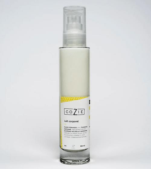 Lait corporel à l'eau florale d'oranger - COZIE - 100 mL - (1,5€ de consigne)