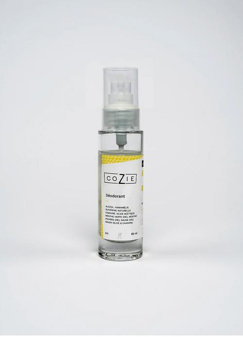 Déodorant à la menthe verte et menthe poivrée - COZIE - 50 mL - (1,5€ de consigne)