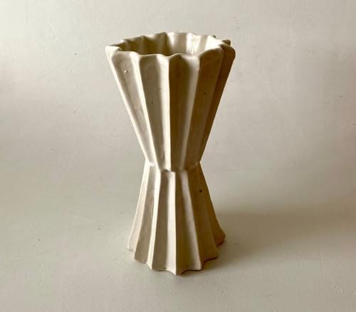 Double folded vase