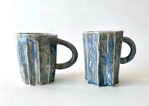 Blue folded cups