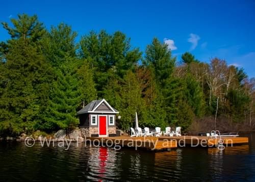 White Muskoka Dock wide, Notecard