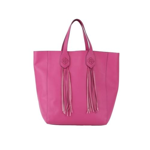 Fringe Tote in Leather