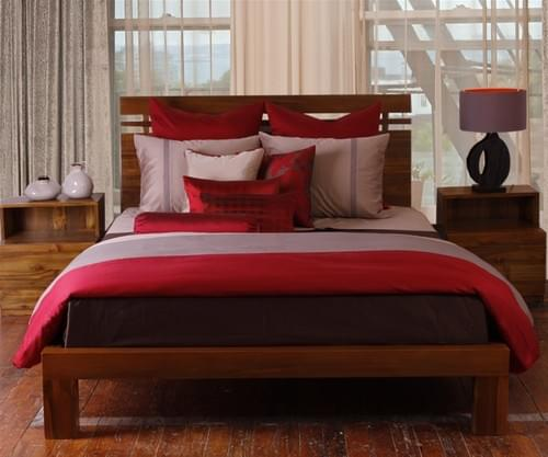 Splendor SN.202 - red/mauve taupe bedding collection