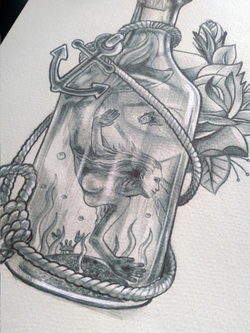 Mermaid in a bottle
