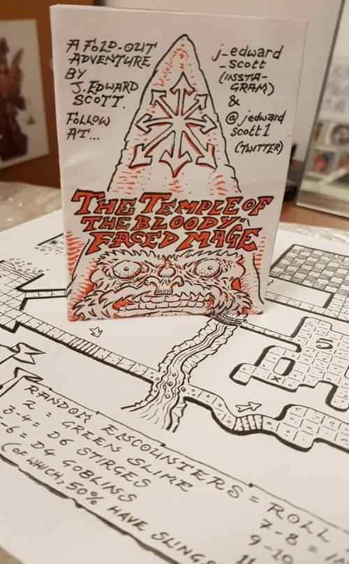 Temple of The Bloody-Faced Mage: Fold-Out Adventure