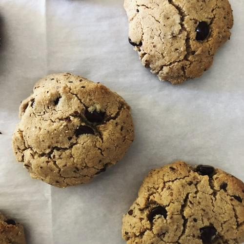 choco-chip cookies (vegan + gluten free)