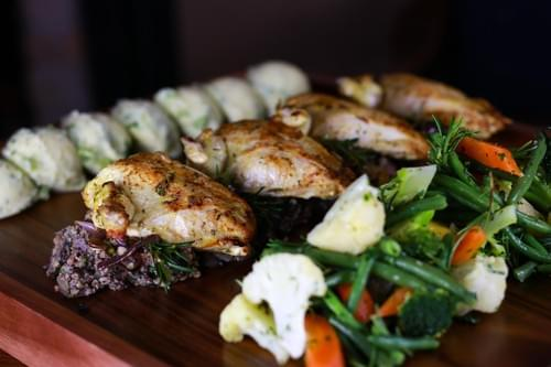 Garlic and Herb Roasted Supreme of Chicken Platter