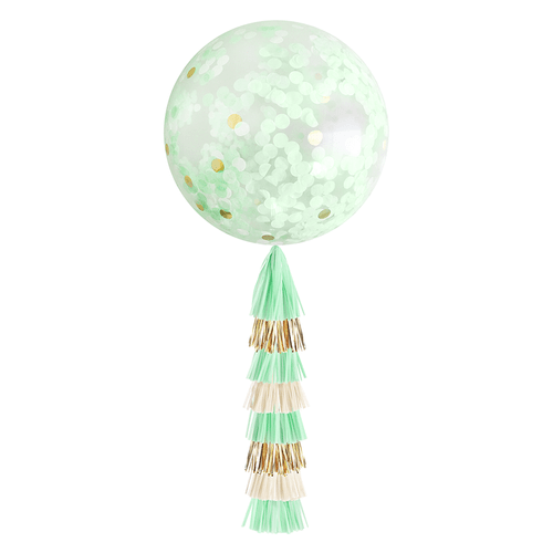 Giant Confetti Balloon-Mint