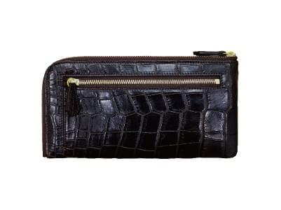 クロコダイルレザー・L字型ファスナー長財布