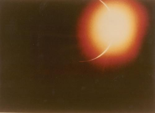 Earth eclipse by the black disk of the Moon, Apollo 12, November 1969