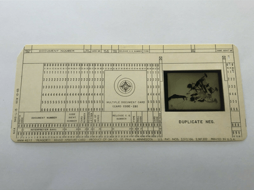 Original Apollo Program Master Negative IBM Document Card NA Rockwell / NASA 9