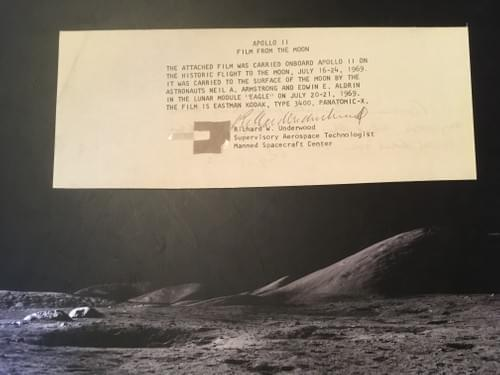 Apollo 11 Film Fragment Flown to the moon