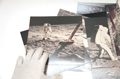 Vintage Apollo 11 original Kodak paper photos