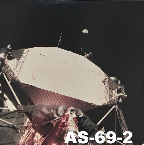 Vintage Apollo 11 original Kodak paper photos
