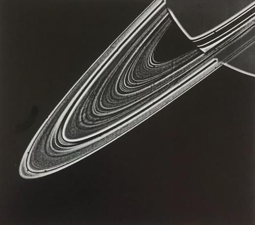 Vintage NASA Print Saturn's Rings Voyager 1