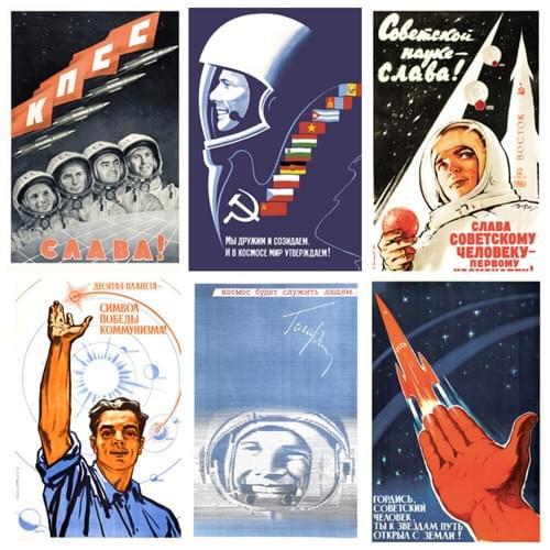 Soviet SPACE Astronauts Cosmos Lot 22 PCS Postcard GAGARIN Tereshkova USSR