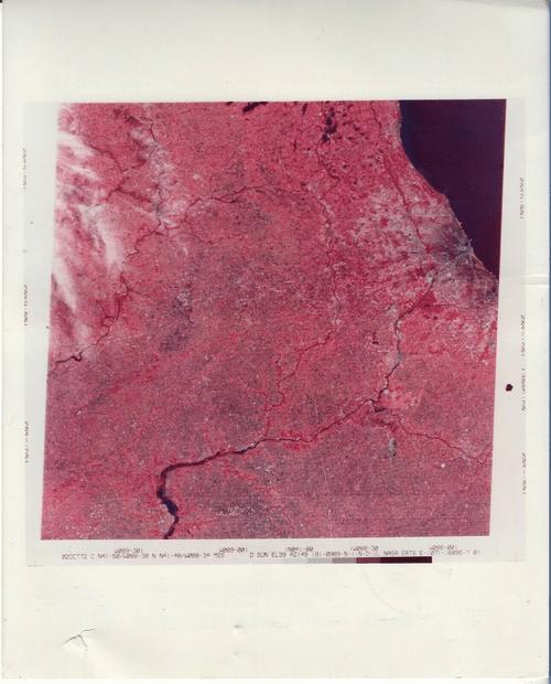 Eart photos from sattelite ERTS 1972