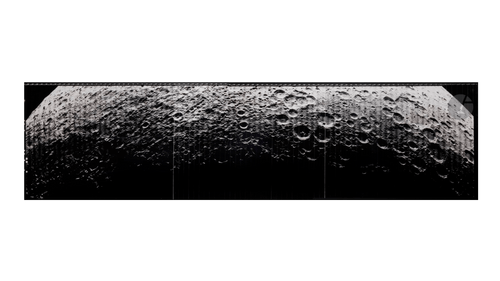 Large Panorama of the hidden face of the moon by Lunar Orbiter . Mission 5, août 1967.