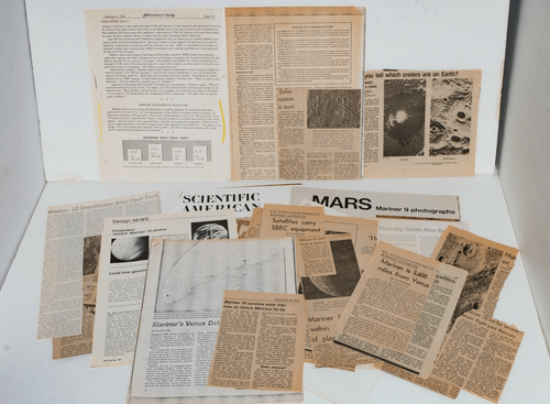 Lot of 1973 Mariner X Mars Space Probe Documents