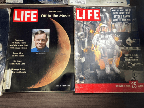 8 LIFE Magazine APOLLO  On the MOON Landing 1958 1969 Space Exploration NASA (pack1)