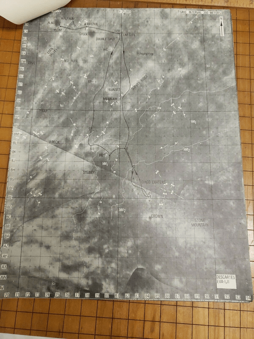 Apollo 16 Landing Site Descartes Lunar Surface Traverse Walking & EVA Maps Pack