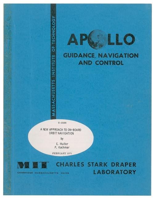Apollo GNC Orbital Navigation Report by MIT
