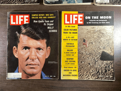 8 LIFE Magazine APOLLO On the MOON Landing 1962 1969 Space Exploration NASA (Pack2)