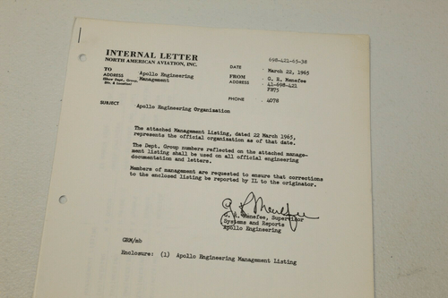 Apollo Calculations Rare Internal Documents