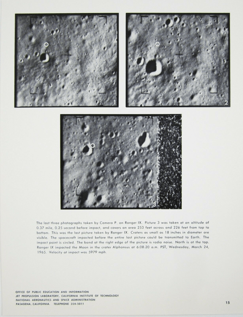 Vintage NASA JPL Ranger IX Lunar Image