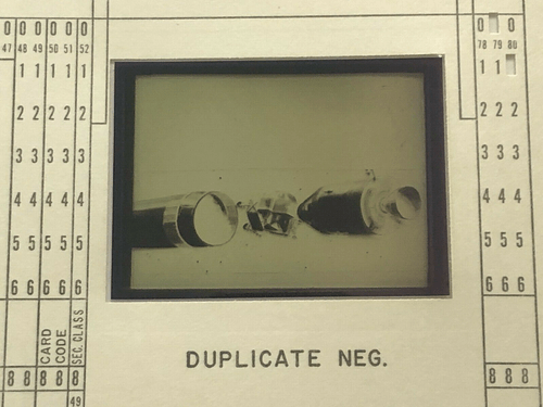 Original Apollo Program Master Negative IBM Document Card NA Rockwell / NASA 10