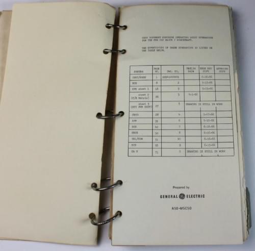 Apollo 11 S/C 012 Operating Logic Schematic Manual