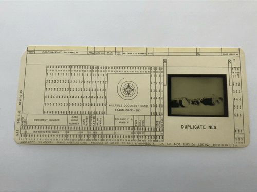 Original Apollo Program Master Negative IBM Document Card NA Rockwell / NASA 10
