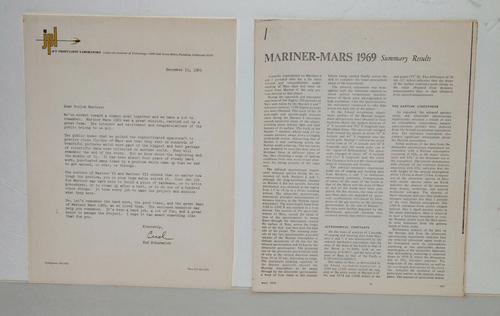 NASA Mars Mariner VI & VII 1969