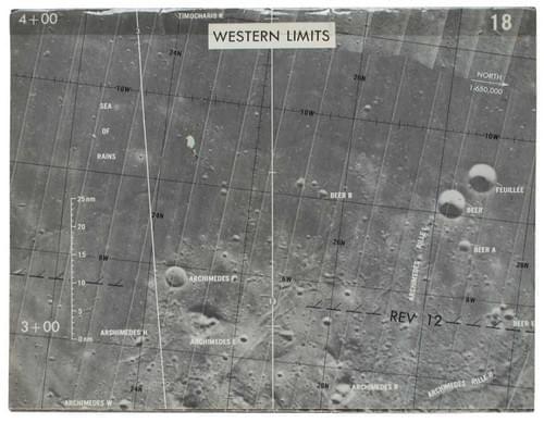 Apollo 15 Training-Used Orbit Monitor Chart