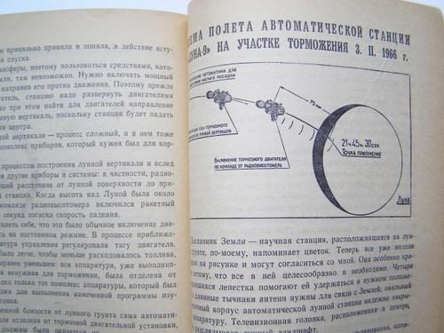 "First Lunar panorama Soviet Space Luna-9 Vintage Russian Book ""Izvestia"" Special"